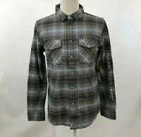 Loser Machine Men's LS Button Down Shirt Hacienda Grey/Black Size M NWT