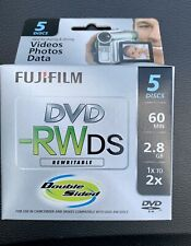Five Pack Of Brand New Fuji Dvd -Rwds. 60 Minutes Camcorder Blank Discs.
