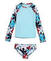 Kanu Surf Big Girls' Long Sleeve Rashguard Two Piece Swim, Rowan Blue, Size  sA5