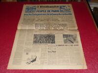 """[PRESSE WW2 39-45] """"L'HUMANITE"""" # 287 / 14 JUILLET 1945 Etats Généraux Concorde"""