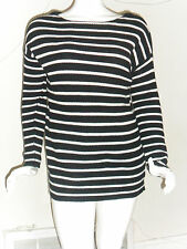 Women's Old Navy Long Sweater Black/Ivory Striped Long Sleeve Size:Large New w/t