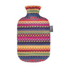 Fashy Hot Water Bottle with Cover Peru Design 2L Water Bottle