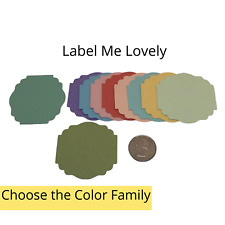 20 Genuine Stampin Up Paper Cardstock Label Me Lovely Punch Shape Die Cut Tag