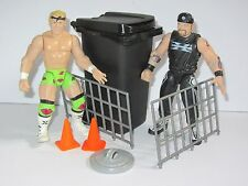 Attitude Era WWF Toy Figure The New Age Outlaws Hardcore Tag Team with Trash Bin