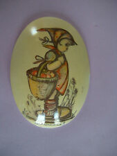 Hummel Oval Wall Plaque - Girl With Basket
