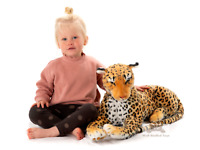 Deluxe Paws Large Leopard Plush Soft Toy 100cm