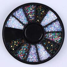 Nail Art Rondell - Rund Irisierend Einleger Pailletten Glitter 4 Farben Bunt #N6