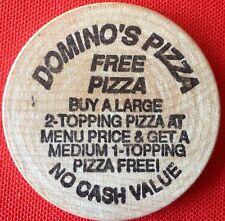 Dominos Pizza Free Pizza, 6 towns in colorado wooden token