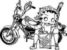Sticker Betty Boop 103 Moto Gas - 76x57 cm