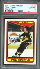 1990 Topps Tiffany #202 PAUL COFFEY Pittsburgh PENGUINS All-Star PSA 10 GEM MINT
