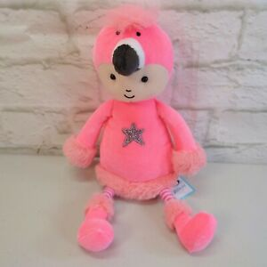 NEW Jellycat Flamingo Flapper Baby Face Soother Comforter Soft Toy Pink BNWT