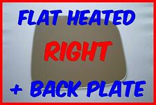 JEEP CHEROKEE LIBERTY 01-07 DOOR MIRROR GLASS FLAT HEATED + BACKING PLATE RIGHT