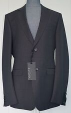 NWT Z Zegna Drop 8 Two-Piece Mini Check Wool Suit Sz US 40R / EU 50R