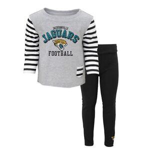 """Jacksonville Jaguars NFL """"Little Big Girl"""" T-Shirt & Pants Set Toddler (2T-4T)"""