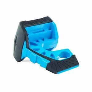 Wedge-It 3 in 1 Ultimate Door Stop Heavy Duty Lexan Plastic Rubber Shim (BLUE)