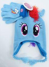Girls My Little Pony Rainbow Dash Beanie Hat and Gloves Set