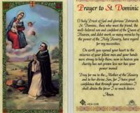 Prayer Card Saint Dominic Catholic Laminated Holy Cards Priest of God HC9-103E