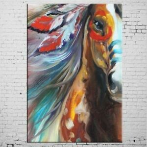 CHOP156 hand-painted modern abstract horse art oil painting home art on canvas