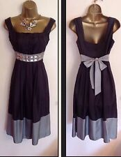 PHASE EIGHT SILK Fit N Flare Evening Wedding Party Day Formal Dress Size UK 10