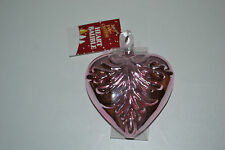 11cm Blow Glass Hanging Heart Bauble Christmas Tree Decoration Ornament