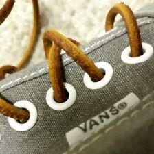 Gorgeous VANS Gray White LOGO Brown Laces Men Size 10 Lace-Up Sneakers