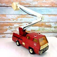 Vintage 1970s TONKA Snorkel Fire Engine Truck Red & White Hose & MAG Wheels USA