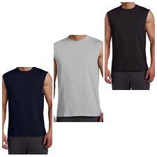 Russell Athletic Men Sleeveless Muscle Tshirt Tee Top  Gray Navy Black 2X 3X 4X