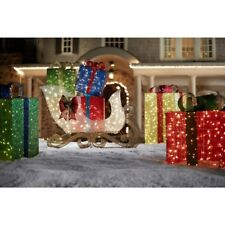 Outdoor Christmas Xmas Yard Decor 72 in. LED Lighted Jumbo Sleigh with Presents