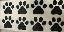 "Set of 8 Dog ~ Cat Paw Prints Decal ~ Each print is 2"" Indoor and Outdoor Vinyl"