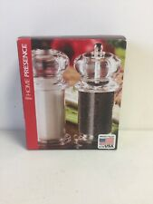 Trudeau Maison 5.5in Traditional Peppermill & Salt Shaker New Free Shipping