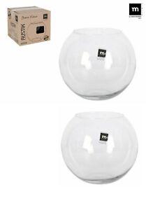 2x 20cm Round Glass Flower Vase Fish Bowl Balloon Centerpiece Wedding Gift Box