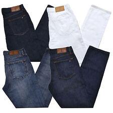 Tommy Hilfiger Jeans Para Hombre Ajuste De Pierna Recta Denim Pantalones Flag Logo Lavado a La Piedra Nuevo
