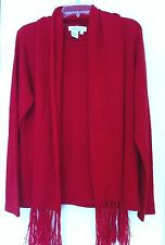 Coldwater Creek 1X  Red Sweater with Scarf