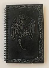 Dragon celtic symbol by Ack spiral drawing black resin notebook binder diary