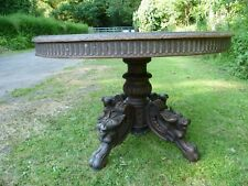 ANTIQUE FRENCH RENAISSANCE STYLE, 'DRAGON LEGGED' GUERIDON TABLE. ANTIQUE TABLE