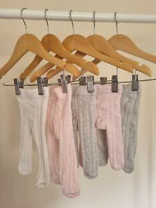 Next Baby Girl Tights Bundle First Size Newborn - 5 pairs