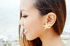 Cute Tiny Real Starfish Ariel Mermaid Nautical Stud Earring Jewelry Accessories