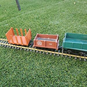 3 LGB 4045 Mine Stake Flat Car dump car ore car tractor cleaner