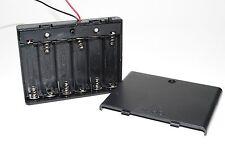 2 pcs 6AA  Battery Size Plastic Storage Box Case Holder w/ Switch A072