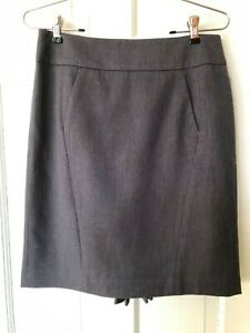 Ann Taylor Loft Size 4 Grey Straight Skirt