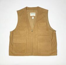 Orvis Outdoor Hunting Munition Utility Full Zip Leather Vest Mens XXL