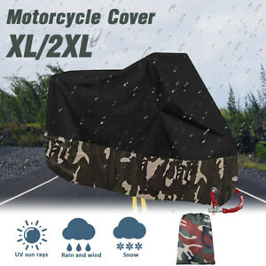 Universal Bike Cover Waterproof Outdoor Motorcycle Scooter Cruiser Protective XL
