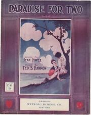 Paradise For Two, Jean Haven, 1913, Metropolis Music Co, vintage sheet music