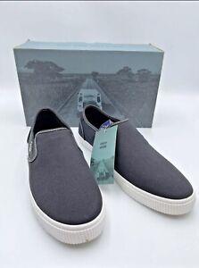 Toms Baja Black Canvas Contrast Stitching Loafer Men's Comfort Shoes