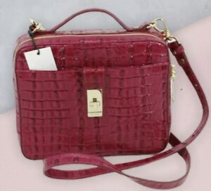 $265 New BRAHMIN Evie Fuschia La Scala  Crossbody Handbag GENUINE LEATHER