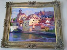 "Harry Wysocki  Acrylic on canvas ""Regensburg"" 30x24"