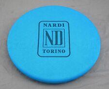 Nardi Blue Fabric Steering Wheel Cover - Nardi ND Torino Logo - Fits 330mm-420mm