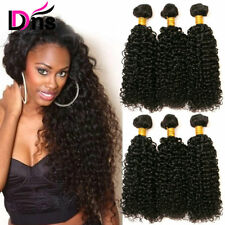 "18""20""22"" 3 Kinky Curly Bundles Brazilian Virgin Hair 100% Human Hair Weave Weft"