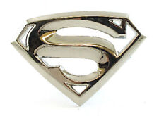SUPER HERO S SUPER MAN CHROME LOGO BELT BUCKLE DC SUPERMAN SNAP BELT