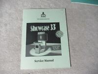 2nd printing ATARI SHOWCASE 33    arcade  video game manual